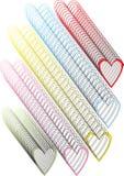 Abstracte kleurrijke hartenachtergrond Stock Afbeelding