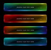 Abstracte kleurrijke het gloeien opties Stock Foto