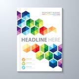 Abstracte kleurrijke hexagon achtergrond royalty-vrije illustratie