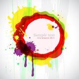 Abstracte kleurrijke inktvlekken. Stock Afbeeldingen