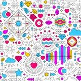 Abstracte kleurrijke krabbelachtergrond Royalty-vrije Stock Afbeeldingen