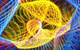 Abstracte kleurrijke krommen die als een carrousel spinnen Hoog Gedetailleerd stock videobeelden