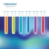 Abstracte kleurrijke laboratoriumachtergrond. Stock Fotografie