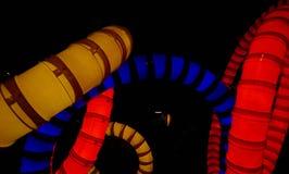 Abstracte kleurrijke lichten in een lijn Royalty-vrije Stock Afbeeldingen