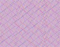 Abstracte kleurrijke lijnen die kunst roze achtergrond overlappen stock illustratie