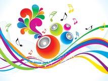 Abstracte kleurrijke muzikale achtergrond Stock Fotografie