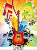 Abstracte kleurrijke muzikale backgroud royalty-vrije illustratie