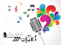Abstracte kleurrijke muzikale mic Royalty-vrije Stock Fotografie