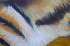 Abstracte kleurrijke oranje, gele, zwart-witte muur royalty-vrije stock afbeeldingen