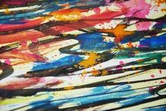 Abstracte kleurrijke pastelkleur vage kleuren, contrasten, wasachtige verf creatieve achtergrond Stock Foto's