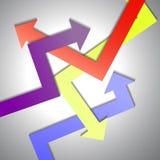 Abstracte Kleurrijke pijl vectorachtergrond Stock Afbeelding