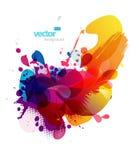 Abstracte kleurrijke plonsillustratie. stock illustratie