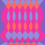 Abstracte kleurrijke psychedelisch patroon vectorachtergrond met ovaal en diamantpurple van vormenfuschia royalty-vrije illustratie