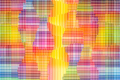 Abstracte kleurrijke regenboogachtergrond Dradenkruis multi gekleurde achtergrond Royalty-vrije Stock Afbeeldingen