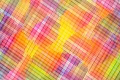 Abstracte kleurrijke regenboogachtergrond Dradenkruis multi gekleurde achtergrond Stock Foto