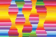 Abstracte kleurrijke regenboogachtergrond Golf multicolored achtergrond Stock Foto's