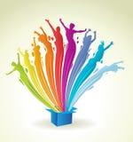 Abstracte kleurrijke regenbooglichten Stock Foto's