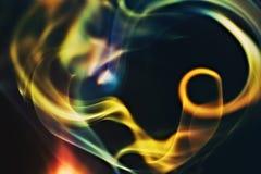 Abstracte kleurrijke rook Stock Afbeelding
