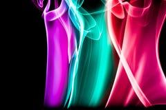 Abstracte Kleurrijke Rook Royalty-vrije Stock Afbeeldingen