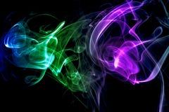 Abstracte kleurrijke rook Stock Foto