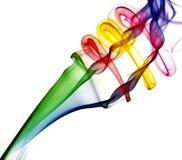 Abstracte kleurrijke rookachtergrond stock afbeeldingen