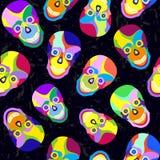 Abstracte kleurrijke schedel stock illustratie