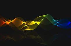 Abstracte kleurrijke spiraalvormige netwerklijn Royalty-vrije Stock Afbeeldingen