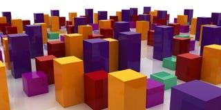 Abstracte kleurrijke stad Stock Foto