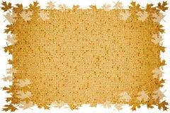 Abstracte kleurrijke stoffenachtergrond, bladeren, de herfst Royalty-vrije Stock Fotografie