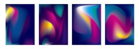 Abstracte kleurrijke stroom vectorillustratie als achtergrond stock illustratie