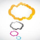 Abstracte kleurrijke toespraakbellen Stock Afbeeldingen