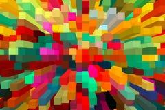 Abstracte kleurrijke uitgedreven achtergrond Royalty-vrije Stock Foto