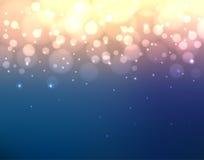 Abstracte kleurrijke vage achtergrond met lichten en bokeh Royalty-vrije Stock Afbeeldingen