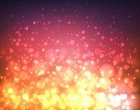 Abstracte kleurrijke vage achtergrond met lichten en bokeh Royalty-vrije Stock Fotografie