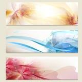 Abstracte kleurrijke vector geplaatste achtergronden Royalty-vrije Stock Afbeelding