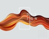 Abstracte kleurrijke vectorachtergrond, de vloeibare golf van de kleurenstroom voor ontwerpbrochure, website, vlieger stock illustratie