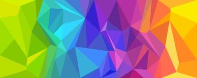 Abstracte kleurrijke veelhoek als achtergrond Stock Afbeelding