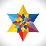 Abstracte kleurrijke veelvoudige samen geschikte sterren stock illustratie