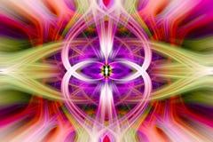 Abstracte kleurrijke verdraaide lichte vezels royalty-vrije illustratie
