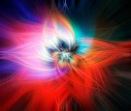 Abstracte kleurrijke verdraaide lichte vezels Het golven en verdraaide lichte vezelsachtergrond stock illustratie
