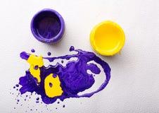 Abstracte kleurrijke verf Stock Foto