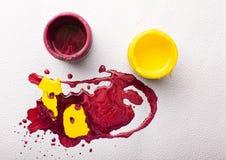 Abstracte kleurrijke verf Stock Foto's