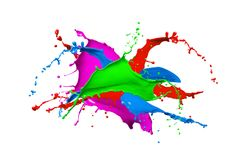 Abstracte kleurrijke verfplons royalty-vrije stock foto's