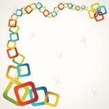 Abstracte kleurrijke vierkante achtergrond Stock Afbeelding