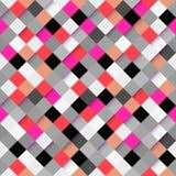 Abstracte kleurrijke vierkante patroonachtergrond Stock Afbeeldingen