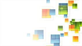 Abstracte kleurrijke vierkanten geometrische videoanimatie vector illustratie