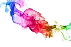 Abstracte kleurrijke vlampatronen op witte achtergrond Stock Foto's