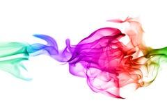 Abstracte kleurrijke vlampatronen op witte achtergrond Royalty-vrije Stock Afbeeldingen