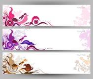 Abstracte kleurrijke vlinder en bloem vectorachtergrond Stock Afbeelding