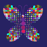 Abstracte kleurrijke vlinder in vector Royalty-vrije Stock Afbeeldingen